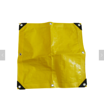 Yellow color PE tarpaulin with eyelet