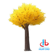 Yellow Artificial Ginkgo Tree