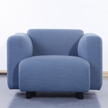 Blue Modern Fabric Single Sofa