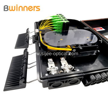 Ftth Fiber Terminal Access 16 Ports Black Fiber Distribution Box