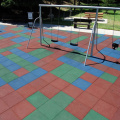 School playground anti-skid rubber flooring tiles