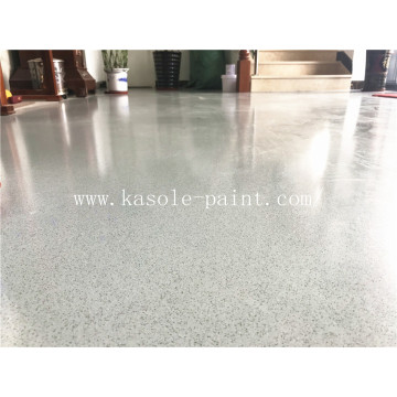 Epoxy color sand self-leveling floor