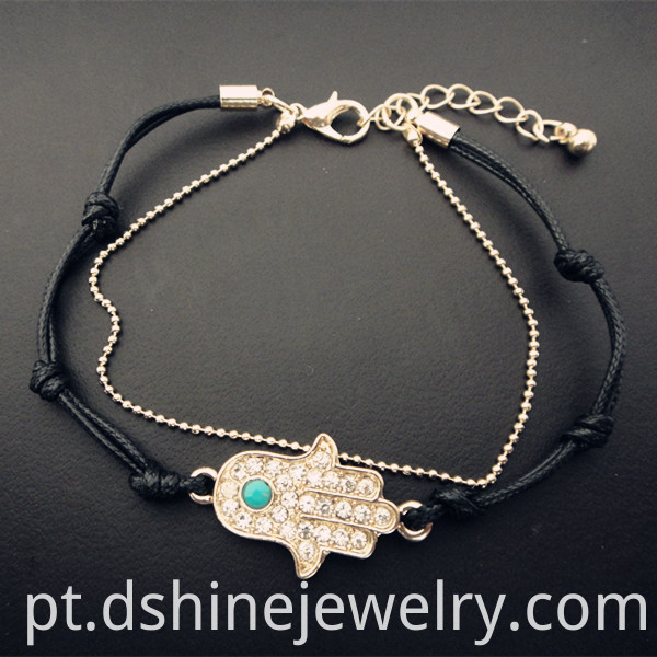 Hamsa Hand Bracelet With Charms