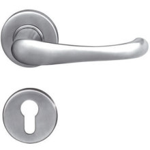 OEM manufacturer custom for China Solid Door Handle On Plate,Solid Door Handle On Rosettes,Casting Door Handle,Solid Lever Handle Manufacturer Stainless Steel 304 Solid Steel Gate Door Handle supply to South Korea Wholesale