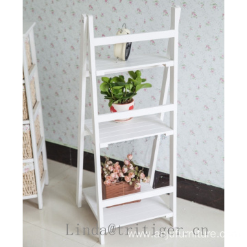 3-Tier Solid wood garden flower corner plant rack display shelves
