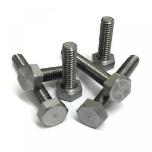black Stud Bolts With 2 Nuts