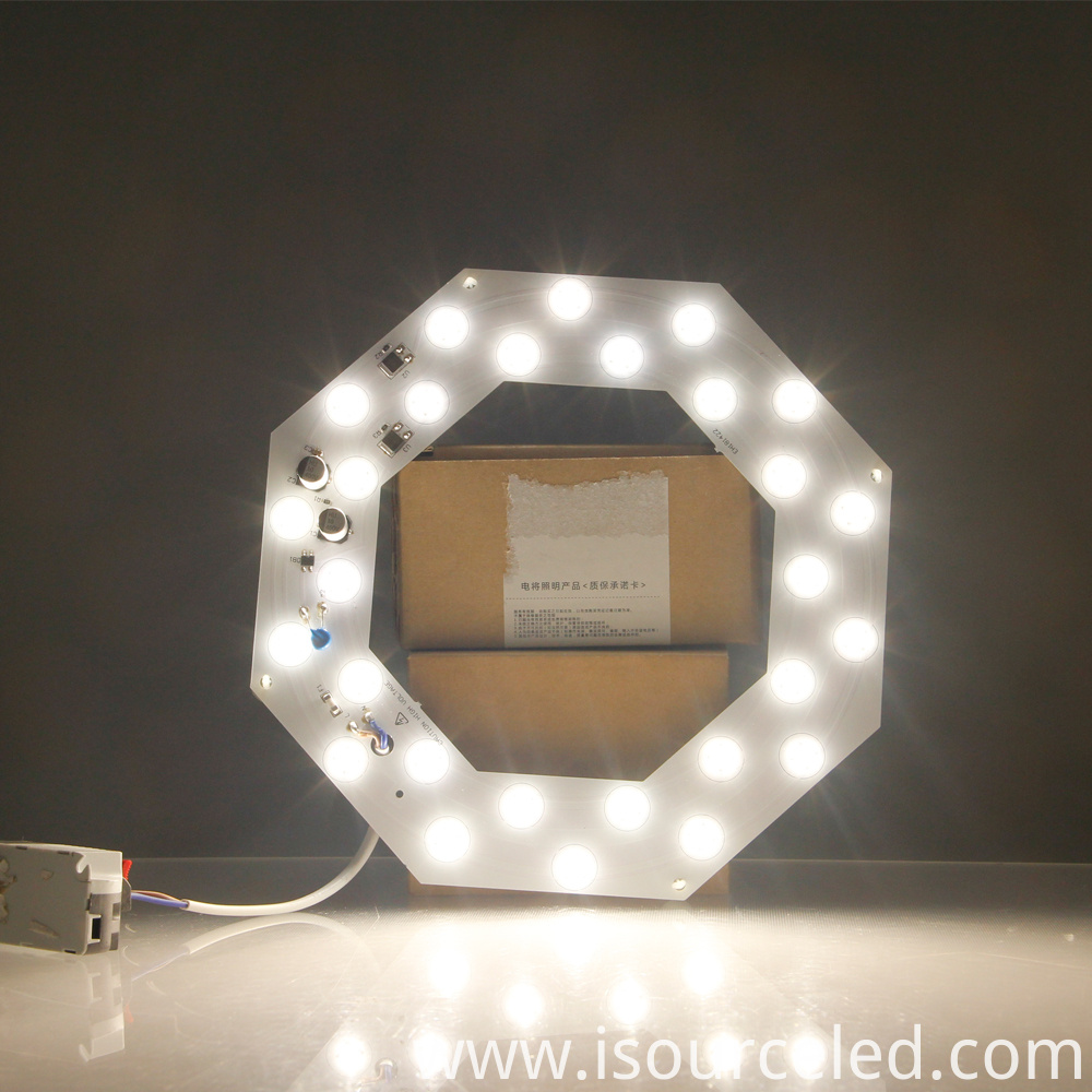 26w Led lens module product power-on luminous diagram