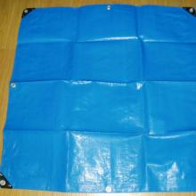 Blue PE tarp fabric