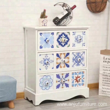 Factory Vintage 9 drawers wooden cabinet