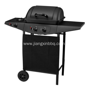 2 Burners Gas BBQ Grill with Side Burner