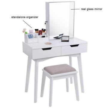 Vanity Set with Mirror and Jewelry Cabinet
