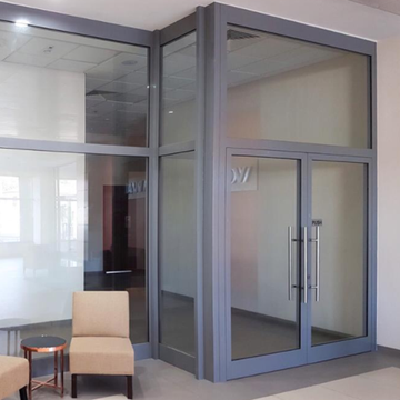 Lingyin Construction Materials Ltd Aluminum Door Frames Design casement door with fixed glass window