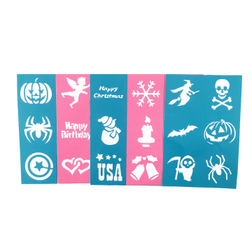 Thick Soft Pliable Reusable face paint stencils set