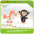 Animal fancy 2D Extruded eraser school use