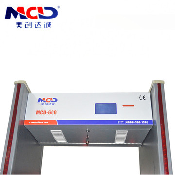 Kepekaan tinggi 6.0 inci Skrin LCD Display Security Airport Checker Badan MCD600