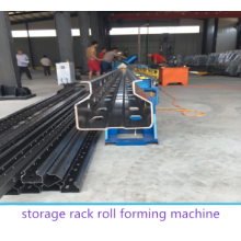 China for Storage Upright Roll Forming Machine Servo control feeding storage racking forming machine supply to United States Supplier