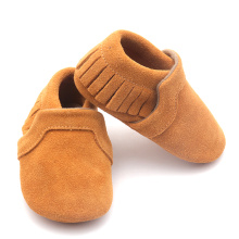 Fringe Suede Leather Moccasins Baby Shoes