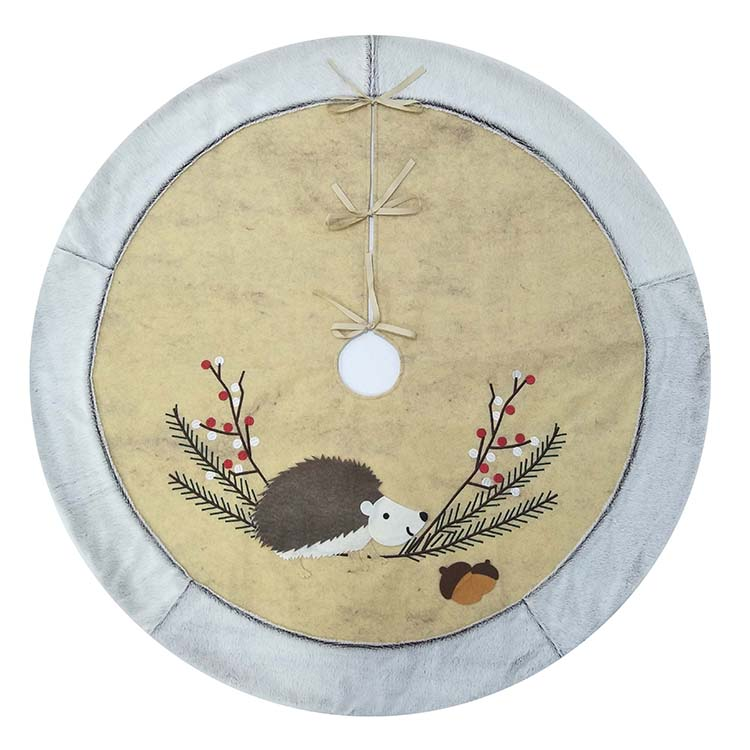 Hedgehog Christmas Tree Skirt