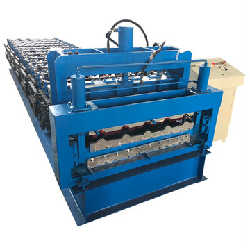 Automatic steel roof panel glazed forming machine