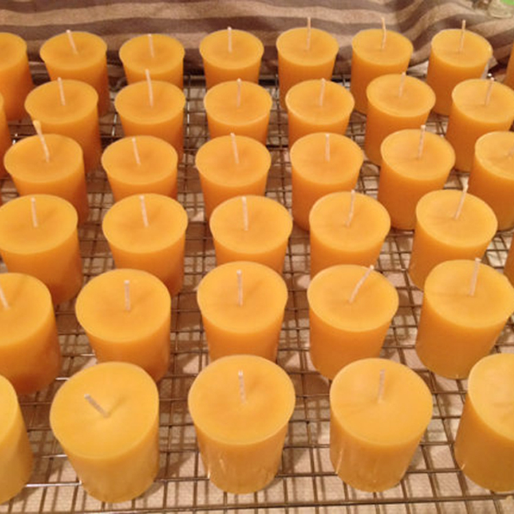 100 Pure Natural Beeswax Votive Candles 3