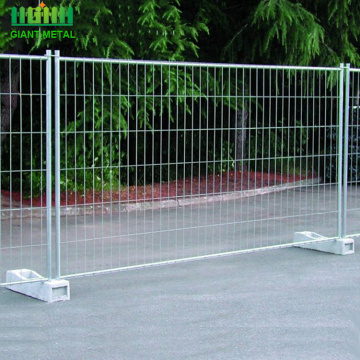 Welded pipe metal Galvanized Steel Temporary Fence
