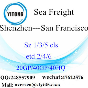 Shenzhen Port Sea Freight Shipping To San Francisco