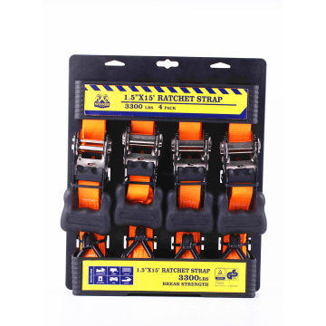 38mm Ratceht Buckle Orange Lashing Strap with 1500KGS