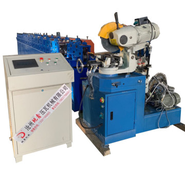 Aluminum rain gutter roll forming making machine