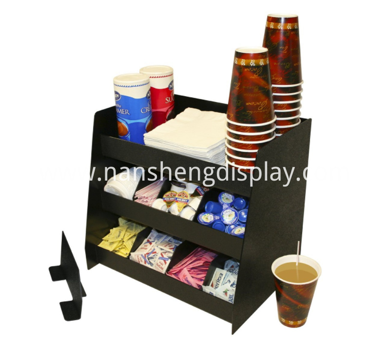 Cafe Coffee Condiments Holder with Removable Dividers