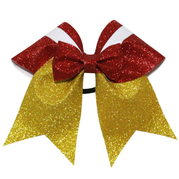 Glittery Snow White Cheer Leading Bows