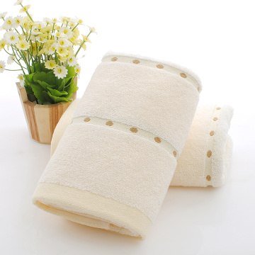 Plain Dyed Towels with Dot Decoration