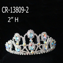 Women Color Diamond Bridal Crown Tall Tiara