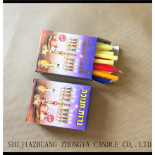 ODM for Color Spiral Taper Candle Wholesale hanukkah decoration 45PCS Hanukkah candles export to Ukraine Manufacturer