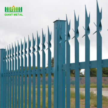 PVC Coated Europe Decorative Steel Palisade Garden Fence