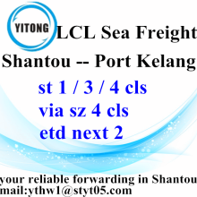 Professional for Sea Freight LCL LCL From Chaozhou Stainless Steel To Port Kelang export to Armenia Manufacturer