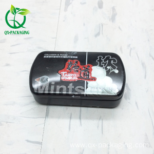 Small mint tin box with plastic inner cover
