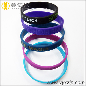Hot Sale ink filled silicone wristbands for gift