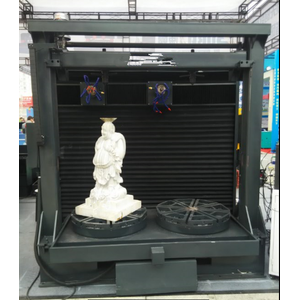 2 heads 4 axis 3D Stone CNC Router