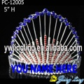 Large Blue And Red Pageant Crown