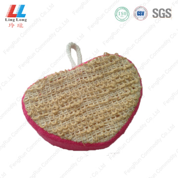Loofah Heart shape bath sponge tools