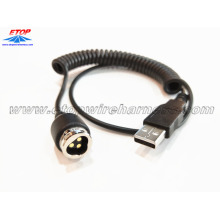USB to lock plug connector for automobile