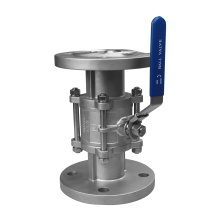 Asme high platform flanged ball valves