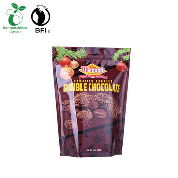 Customized Logo Plastic Coffee Beans Packaging Stand Up Pouch