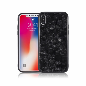 Tempered Glass Pattern Bumper Cover for iPhone X