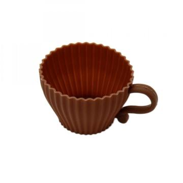 Cheapest Factory for Silicone Muffin Cups Silicone Baking Tea Coffee Cup Cake Mold supply to Belize Factory
