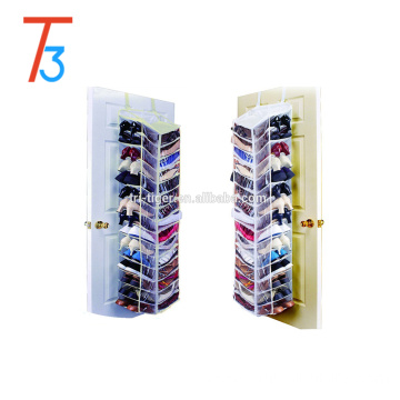 30 pairs Over The Door hanging shoe Organizer -Shoe Hanger Organiser Box