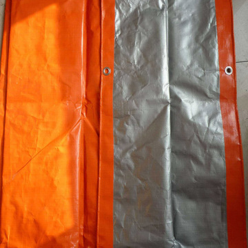 Orange Silver Reflective Tarpaulin Construction Cover