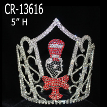 China for Snowflake Round Crowns New Christmas Crowns Big Size Boy Tiara export to Kuwait Factory