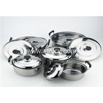 5-Piece American Style Stainless Steel Cookware Set