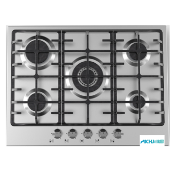 SS 70 cm Gas Hob With A Wok
